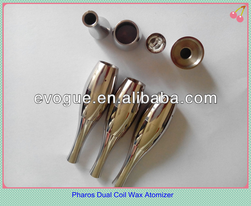 wax smoking device double coils atomizer hemp e cigarette
