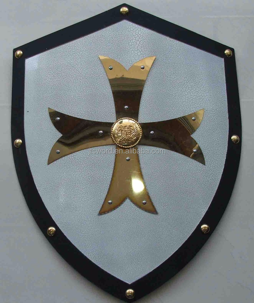 the custom golden Crusaders metal Shield for collection