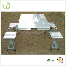 HL-T-09002 Portable Aluminum Folding Outdoor Heights Adjustable Camping Suitcase Picnic Table