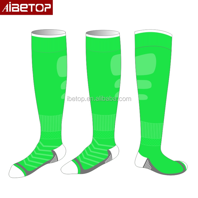 2018 wholesale custom design your own cotton thigh high long embroidered novelty football socks