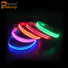 Rechargeable Reflective Flashing Neck Collar Adjustable Size Water Resistant Led Light Up Night Makes Your Dog Visible