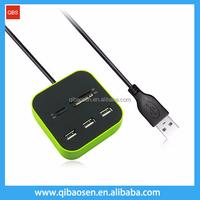 2016 best selling Combo-USB 2.0 Card reader+USB 2.0 3 port HUB