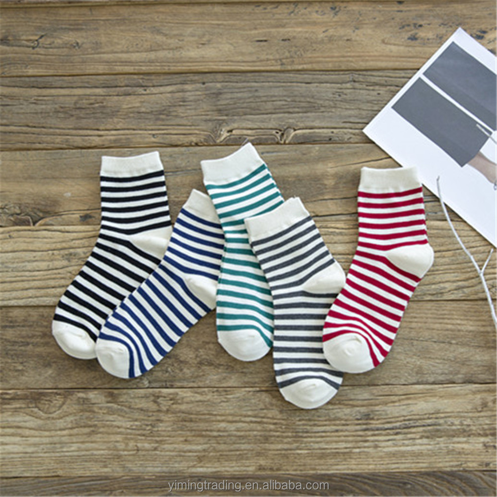 Wholesale Tube Cheap Animal Pattern Sex School Girls Striped Tube Sock