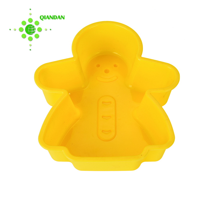Yellow snowman shape silicon cake pop baking silicone molds