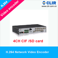 H.264 4CH CIF Network IP Video Encoder With SD Card