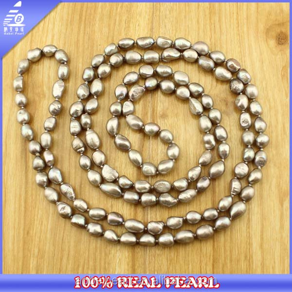 150 cm Long Multi Colored Vintage Chunky Pearl Necklace for Women