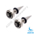 Hot sell surgical steel custom logo jeweled epoxy covered cheap ear tapers