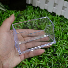 Acrylic Clear Business Card Case Holder, 1 Tier Premium Acrylic Box Holder Display, Plastic Business Card Stand for Office
