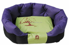 High quality waterproof 600D oxford fabric dog bed / rounded pet sleeping nest purple color