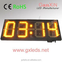 large yellow tube chip color time date temperature display