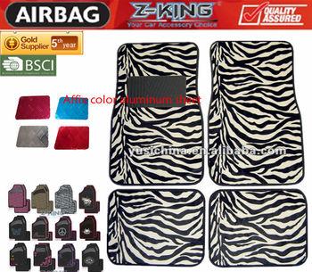 auto interior accessories fashional universal fitting zebra car mats car floor mat 4pcs buy. Black Bedroom Furniture Sets. Home Design Ideas