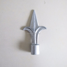 Ornamental die cast aluminum fence spears