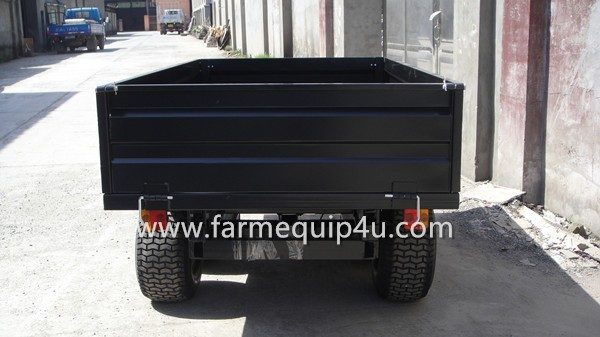 2T4WM 4-wheel ATV Dump Trailer 2000kgs with automatic hydraulic power unit