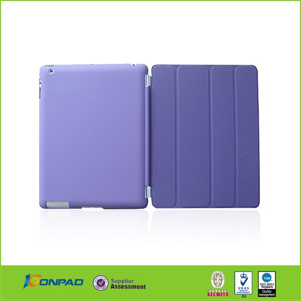 new arrival smart cover leather case for iPad 6,case for iPad air 2