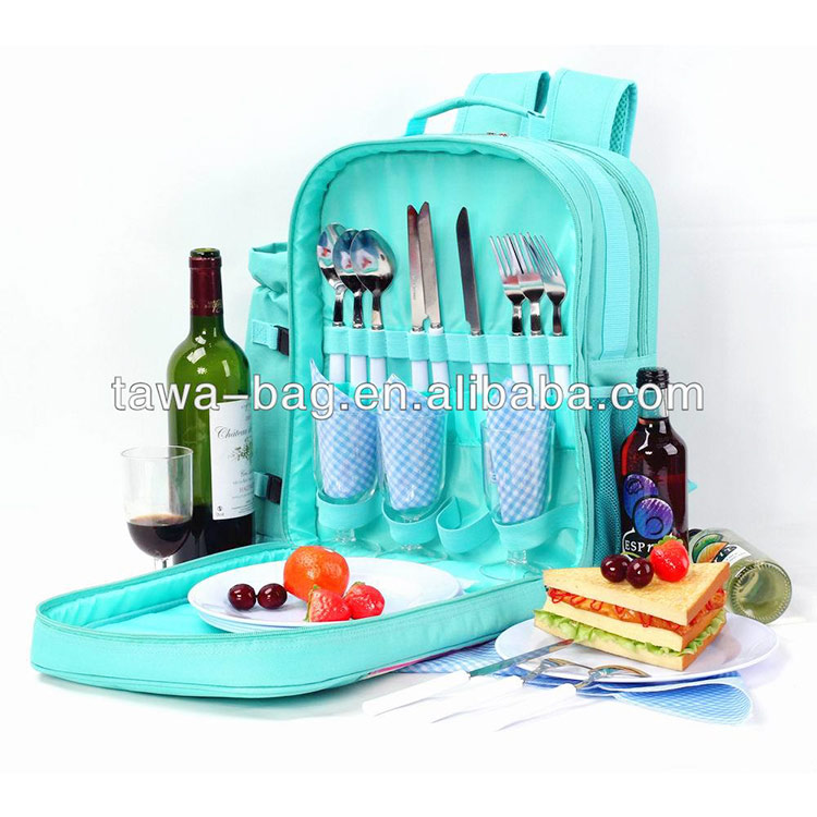 4 person picnic bag backpack with wine holder