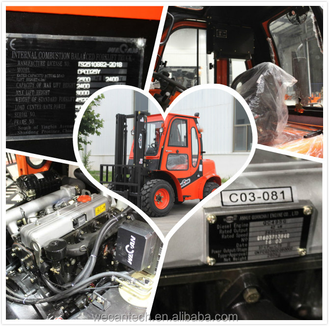 2016 Best Selling Diesel Power Source All Rough Terrain Forklift