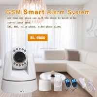 HD camera 3g alarm system wireless gsm personal alarm with smoke detector alarm system home security
