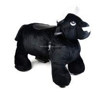 MZ5940 Zoo animals toys black bull battery powered riding kids walking on park animal ride