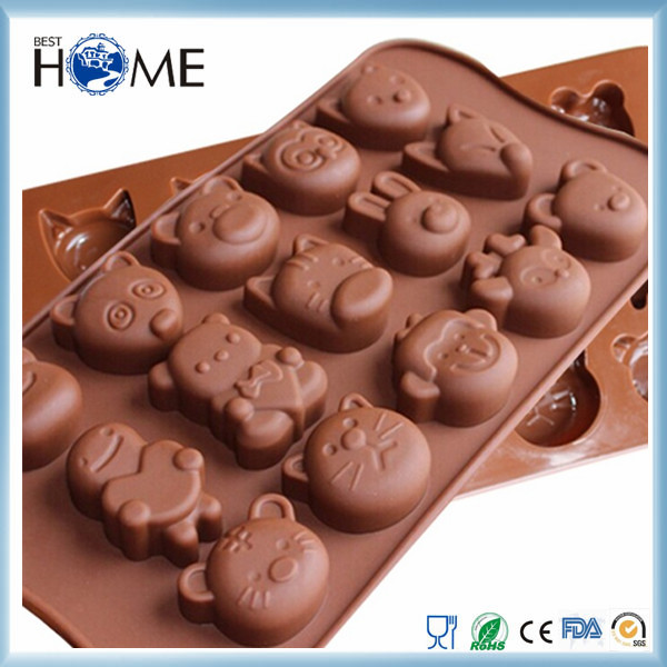 2016 Hot Selling Oem Reasonable Price Unique Design Various Colors 3D Chocolate Silicone Mold