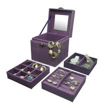 China Wholesale Market Best Selling Leather Jewelry Set Packaging Box