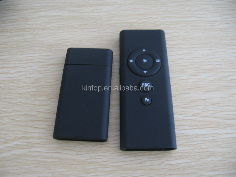 High quality 2.4G wireless presenter with cursor control , Red laser pointer can built in memory