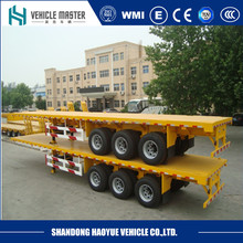 3 axles 20ft 40ft container platform flatbed semi trailer , truck trailer , shipping container trailers for sale