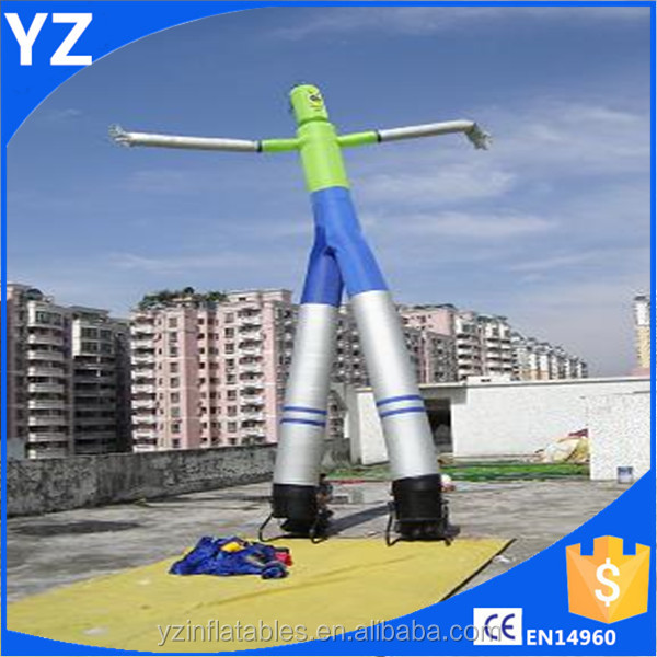 In Stock Colorful Mini Air Dancer / Dancing Inflatable Advertising Man For Sale