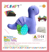 Felt DIY kits handmade ornament craft Dinosaur decorations volcano dino egg palm tree Preschool Eductional Toys