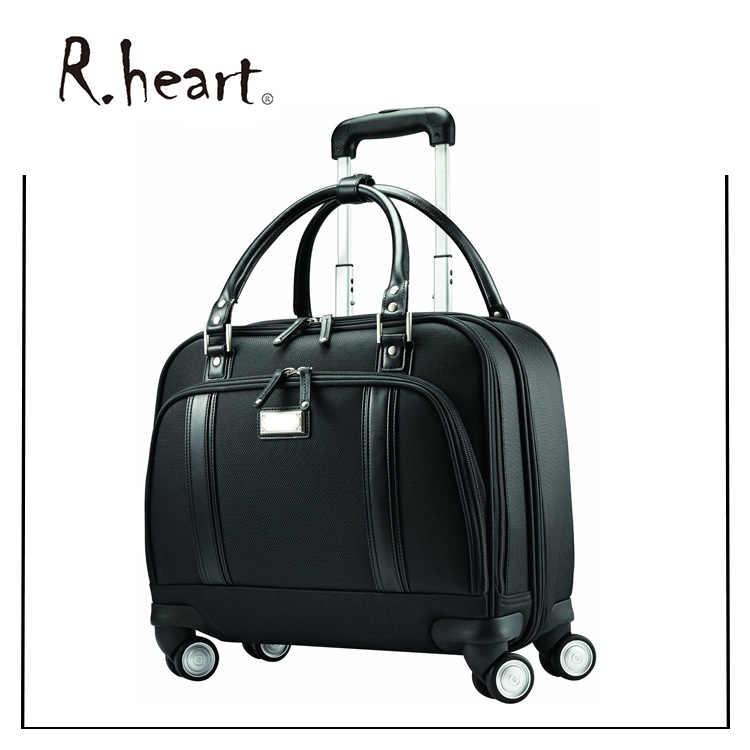 Stylish sophisticated business laptop trolley bag luggage wheeled trolley Rolling Bag