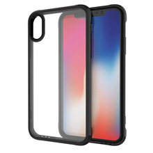 Shockproof Clear PC TPU Phone Case For iPhone X Acrylic Back Cover Case For iPhone 10