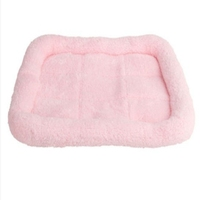 Excellent Quality Pink Soft Plush Pashm Dog Puppy Pet Cat Warm Slumber Sleep Crate Mat Bed Kennel Pad New Arrival