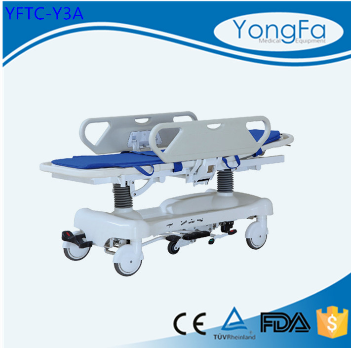 Continuous improvement Low MOQ high quality hydraulic patient stretcher bed emergency trolley