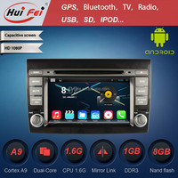 "Capacitive Touch Screen Android Car DVD For Fiat Bravo 2 Din 7"" Car PC For Fiat"