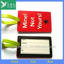 PromotionGift Rubber Soft PVC Silicone Travelling personalized pvc luggage tag