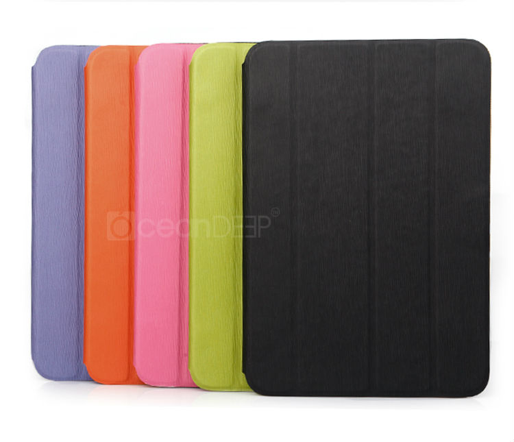 Four folded leather smart cover for samsung galaxy note 10.1 N8000 tablet leather case