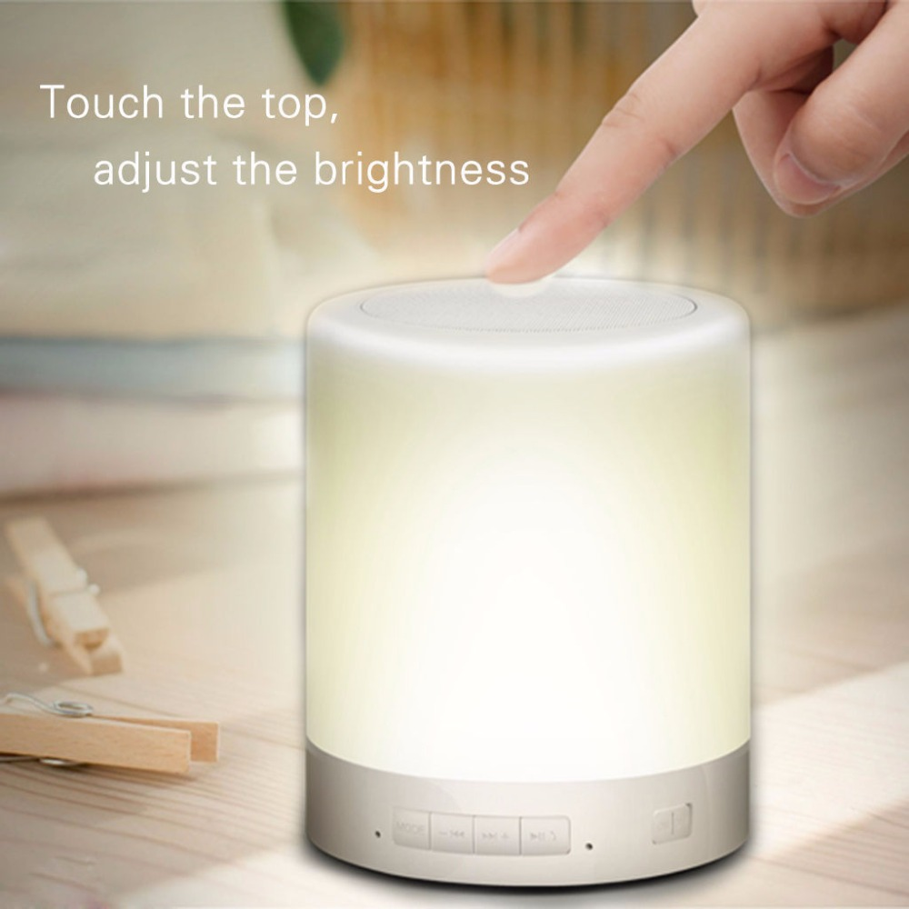 Smart LED Lamp Touch Sensor light Music Player Hands free Bluetooth Speaker for iPad for iPhone for Android for tablet