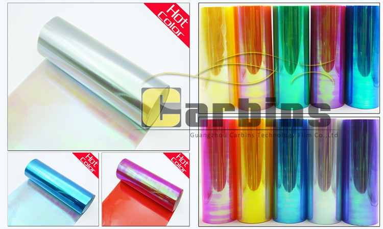 10 colors Chameleon tinting headlight film for car