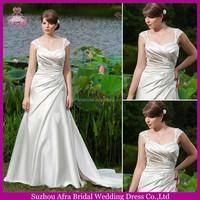 SD1413 elegant lace straps ball gown wedding dresses duchess satin wedding gowns