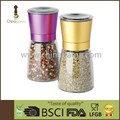 Colorful 170ml Food Grade Anodizing Upside Down Manual Salt Miller suitable for salt&pepper&herb