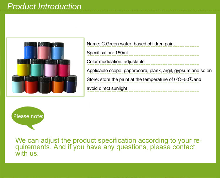 CGREEN Customized 150ml 250ml 500ml Artist Acrylic paint