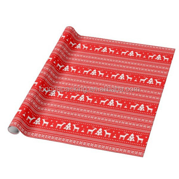 Christmas Deer Fancy Gift Wrapping Paper Roll