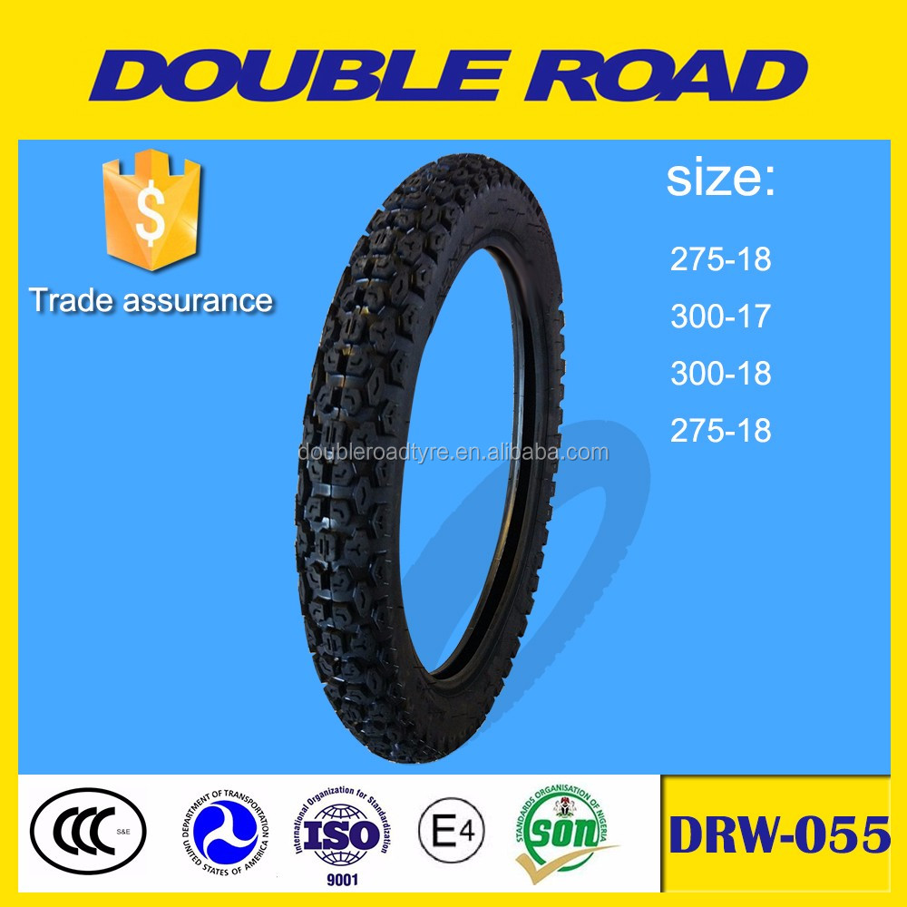 high quality natural rubber motorcycle tires 300-18 wholesale
