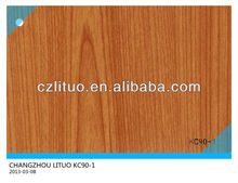 good quality woodgrain pvc film for furniure material