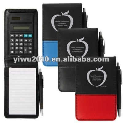 PVC Notepad With Calculator And Pen