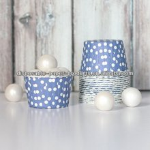 INDIGO BLUE POLKA DOTS CANDY CUPS Baking Cups, Nut Cups, Portion Cups cupcake liners Greaseproof Cupcake/Muffin Baking