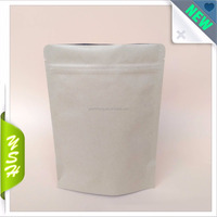 Aluminum foil Customized High Quality No Printing Kraft Paper Bag with zipper food packing