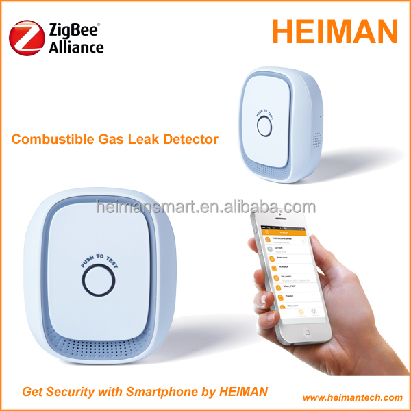 Heiman zigbee combustible gas leak detector for home automation system