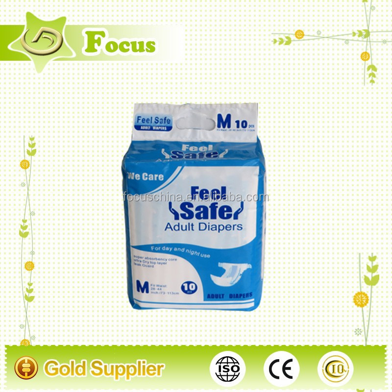 Confortable disposable adult diaper for India, adult diaper factory, high absorbency adult diaper