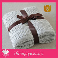 100% Acrylic Throw Blanket Cable Knit Blanket