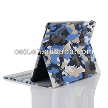 For New Apple iPad Air 5 5th Gen Generation Smart Shell Camouflage Camo Design PU Leather Stand Case